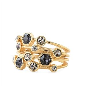 Stella & Dot geo stone stacked look ring